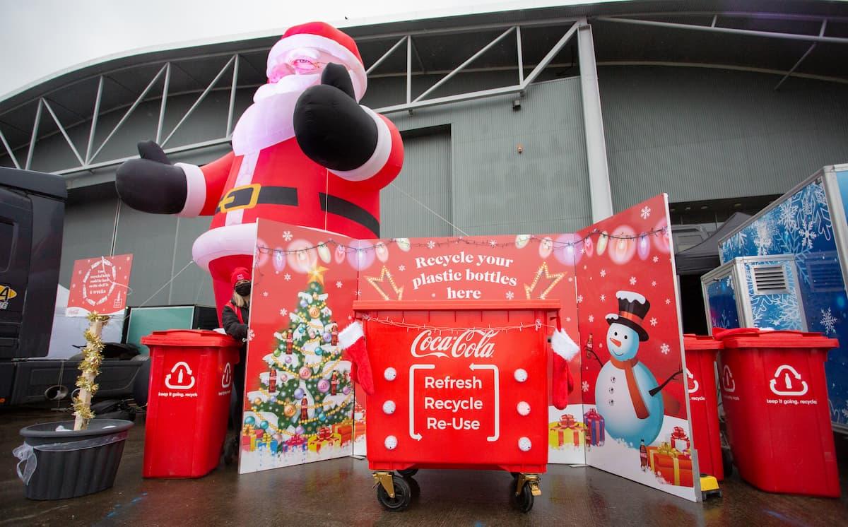 Christmas Car Park Panto Coca-Cola