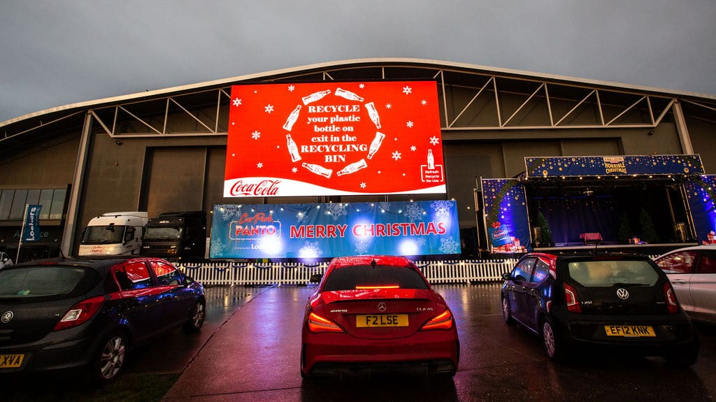 Christmas Panto Drive-In Coca-Cola